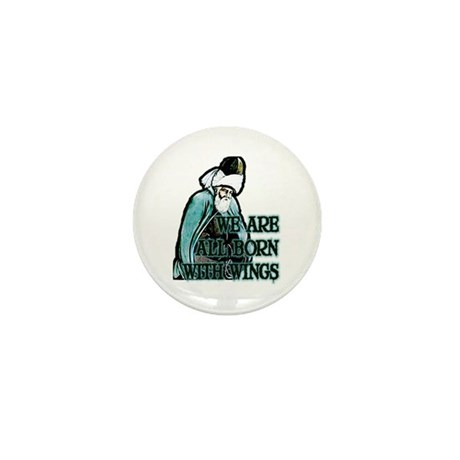 Born with Wings Mini Button (100 pack)