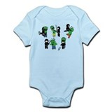 Ninjas vs Zombies Infant Bodysuit