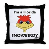 Florida Snowbird Throw Pillow