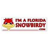 I'm a Florida Snowbird! Bumper Car Sticker