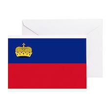Flag of Liechtenstein Greeting Card