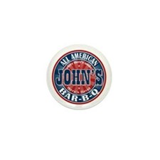 John's All American BBQ Mini Button