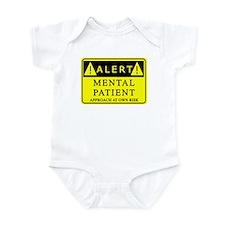 Mental Patient Warning Sign Infant Bodysuit