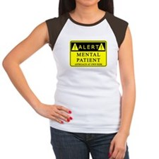 Mental Patient Warning Sign Tee