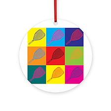 Racquetball Pop Art Ornament (Round)
