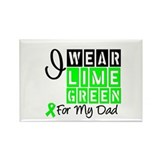 I Wear Lime Green Rectangle Magnet