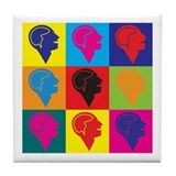 Psychology Pop Art Tile Coaster