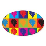Psychology Pop Art Oval Sticker (50 pk)