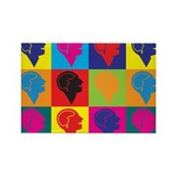 Psychology Pop Art Rectangle Magnet (100 pack)