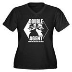 Double Agent Women's Plus Size V-Neck Dark T-Shirt