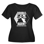 Double Agent Women's Plus Size Scoop Neck Dark T-S