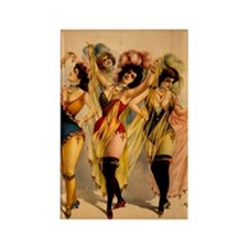 Four Burlesque Girls Rectangle Magnet (10 pack)