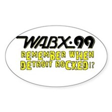 "WABX ""Remember"" Oval Decal"
