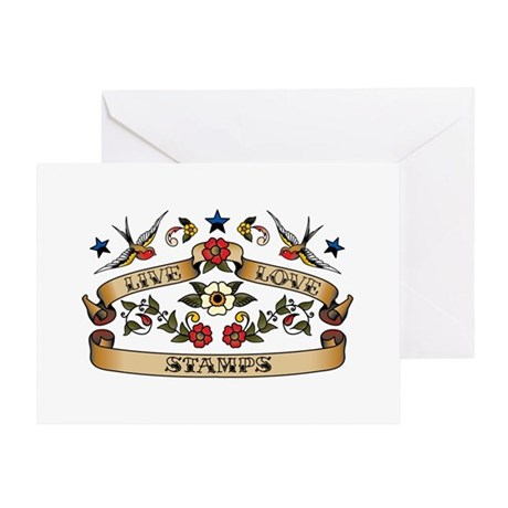 Live Love Stamps Greeting Card