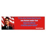 Reagan one nation Bumper Sticker (50 pk)