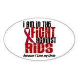 In The Fight Against AIDS 1 (Uncle) Oval Decal