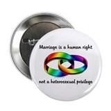 "Marriage is a Human Right 2.25"" Button (10 pack)"
