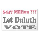 Let Duluth Vote Decal