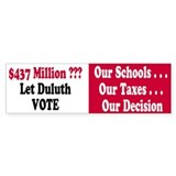 Let Duluth Vote 50 Bumper Stickers