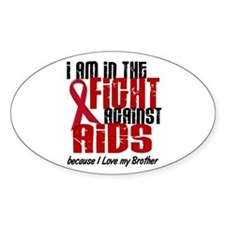 In The Fight Against AIDS 1 (Brother) Decal