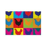 Poultry Pop Art Rectangle Magnet