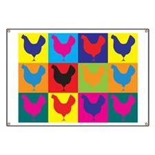 Poultry Pop Art Banner
