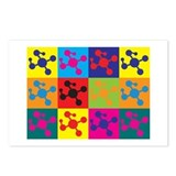 Polymer Chemistry Pop Art Postcards (Package of 8)
