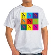Pole Vaulting Pop Art T-Shirt