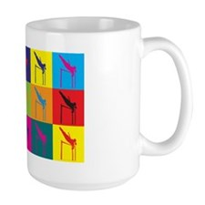 Pole Vaulting Pop Art Mug