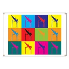 Pole Vaulting Pop Art Banner