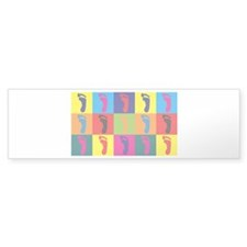 Podiatry Pop Art Bumper Sticker (50 pk)