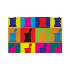 Pharmacology Pop Art Rectangle Magnet (100 pack)