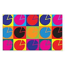 Pensions Pop Art Rectangle Sticker 50 pk)