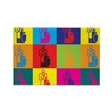 Pediatrics Pop Art Rectangle Magnet