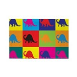 Paleontology Pop Art Rectangle Magnet