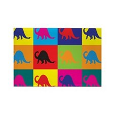 Paleontology Pop Art Rectangle Magnet (10 pack)