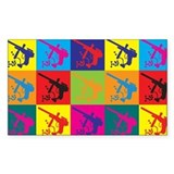 Paintball Pop Art Rectangle Decal