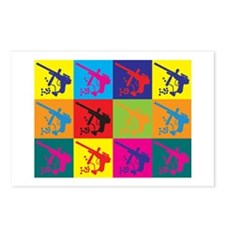 Paintball Pop Art Postcards (Package of 8)