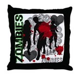 Zombies, I love zombies Throw Pillow
