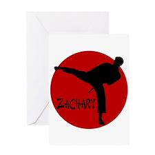 Zachary Martial Arts Greeting Card