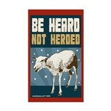 Be Heard, Not Herded Rectangle Sticker 10 pk)