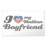 I love my Haitian Boyfriend Rectangle Decal