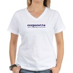 Corporette Women's V-Neck T-Shirt
