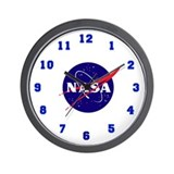 NASA Meatball Logo Wall Clock
