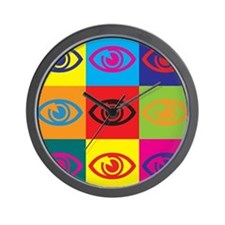 Optometry Pop Art Wall Clock