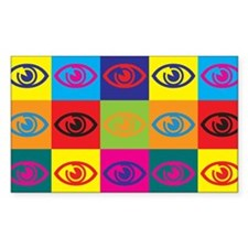 Optometry Pop Art Rectangle Decal