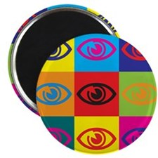 "Optometry Pop Art 2.25"" Magnet (100 pack)"