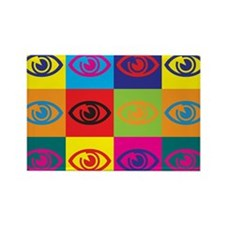 Optometry Pop Art Rectangle Magnet (100 pack)