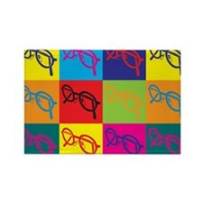 Optics Pop Art Rectangle Magnet (10 pack)