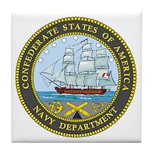 Confederate Navy Tile Coaster